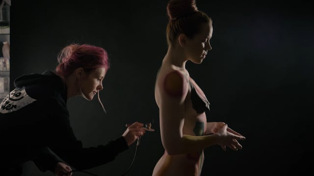 'Archetype' body paint – Behind the scenes