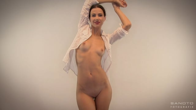 Lauren Crist, naked in white blouse (18+) – (NSFW)