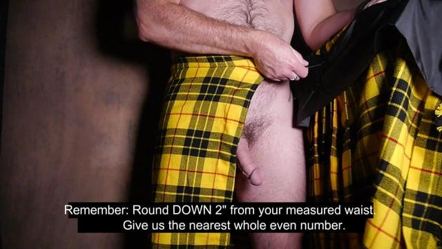 Measuring for a Tartan Kilt