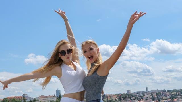 Walk (models Christina and Diana)