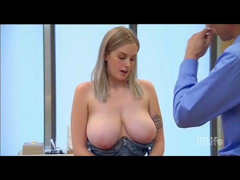 Periscope on 21 year old woman – she has big problem with her large breast.