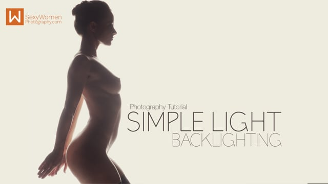 'BACKLIGHTING: Simple Light' starring Melisa Mendini – Lighting & Look Setup FREEMIUM