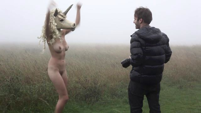 on set with Ben Hopper; Naked Girls with Masks in Brighton